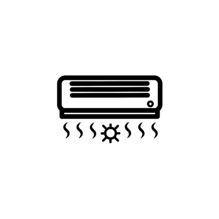 Air conditioner icon on white. Çizim