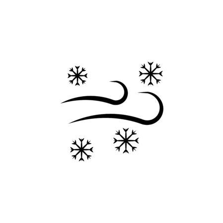 Wind Snow Snowstorm outline icon. Meteorology. Weather. Vector illustration Foto de archivo - 133542833