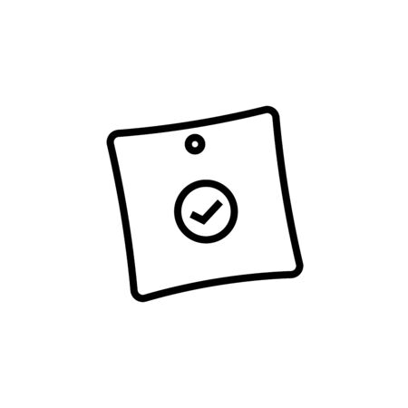 Sticky Notes Icon, Vector Illustration,User Interface Outline Illustration