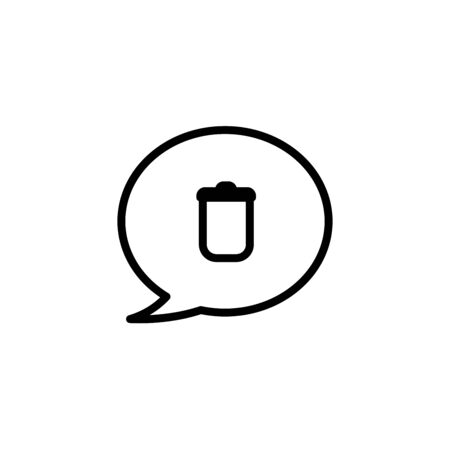 delete chat icon. flat illustration of delete chat vector icon. delete chat sign symbol Иллюстрация