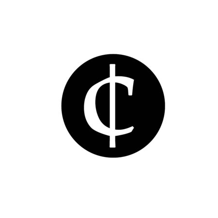 Currency flat icon coin symbols in black circle