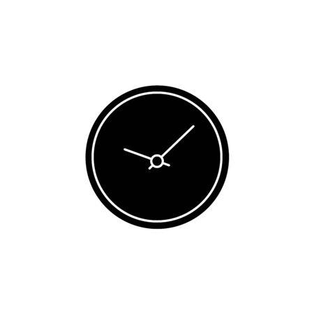 Clock symbol on dark background,clean vector