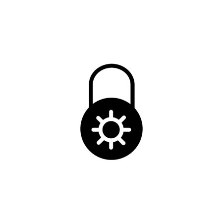 Black Safe combination lock wheel icon isolated on transparent background. Combination padlock. Security, safety, protection, password, privacy. Vector Illustration Illusztráció
