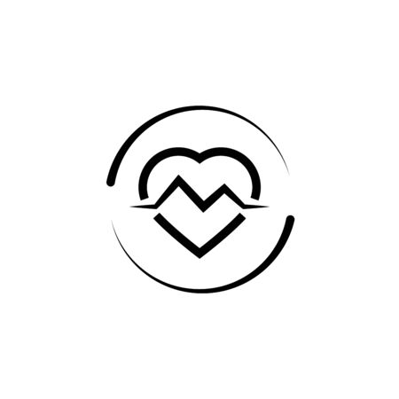 heart rate loading refresh icon Ilustrace