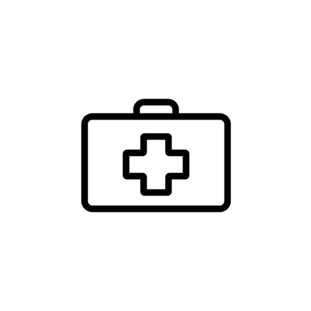 Premium first aid kit icon or in line style. High quality sign and symbol on a white background. Vector outline pictogram for infographic, web design and app development. Zdjęcie Seryjne - 134468254