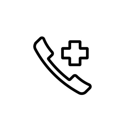 Emergency call icon. Call for ambulance.