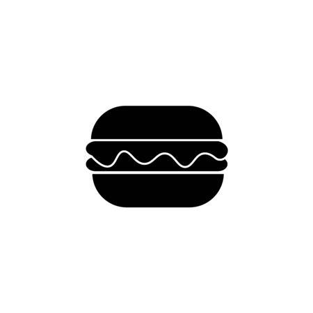 Fast food icon, vector simple black isolated illustration. Çizim