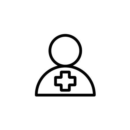 Doctor line simple vector icon Zdjęcie Seryjne - 134469436