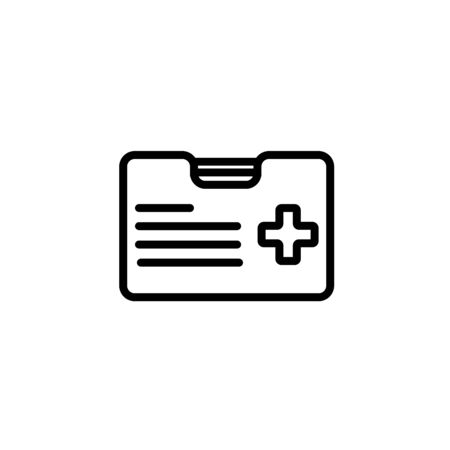 Premium first aid kit icon or in line style. High quality sign and symbol on a white background. Vector outline pictogram for infographic, web design and app development. Zdjęcie Seryjne - 134469655