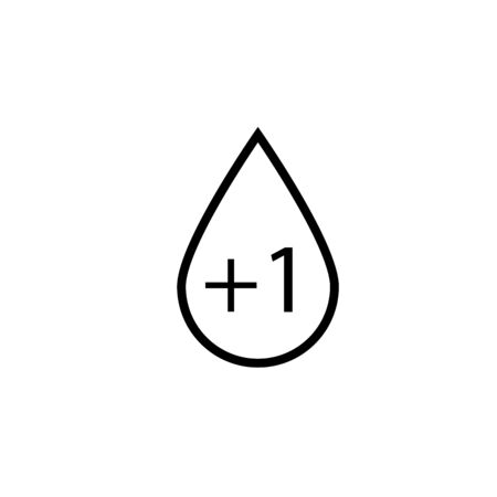 Blood Group Icon. Donor or Blood Type Transfusion Sign, Symbol & Vector. Illustration