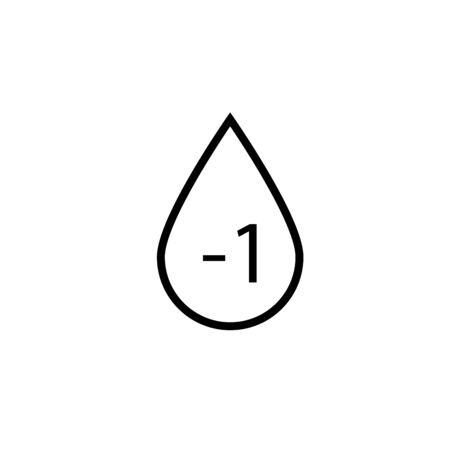 RH- icon of 3 types: color, black and white, outline. Isolated vector sign symbol.