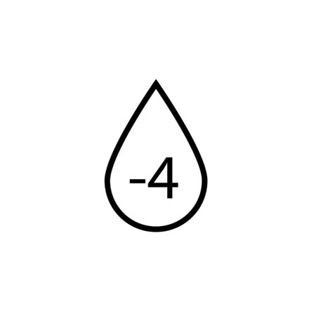 Blood Group Icon. Donor or Blood Type Transfusion Sign, Symbol Vector.
