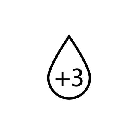 blood rh 3 simple vector icon