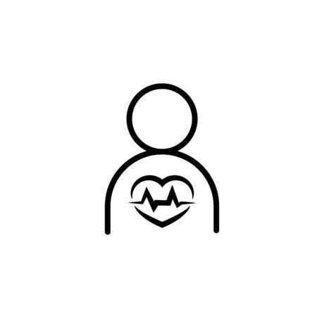 cardiology wave monitor heart icon black on white background