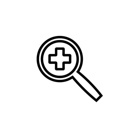 Magnifying Glass for Search Medical Icon Vector Template