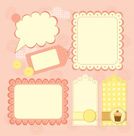 boy s frame and tags collection for scrapbook