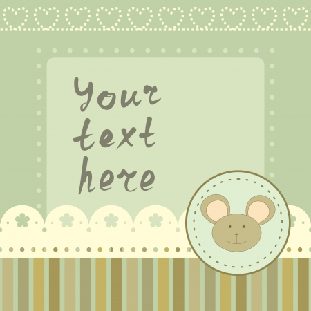 square frame with little mouse Vector