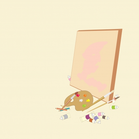 background with artistic objects Vector