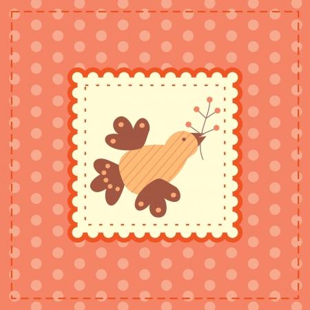 pink greetin card Stock Vector - 14317893