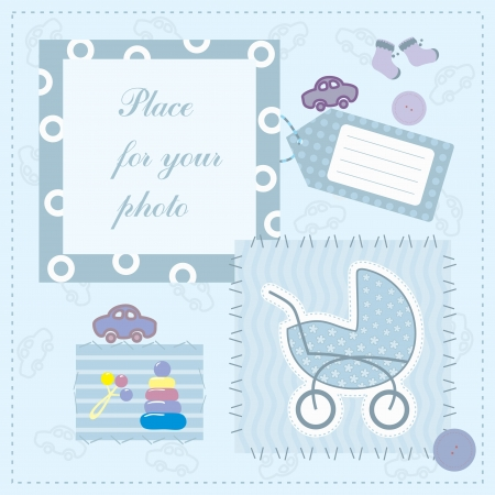 frame for baby s photo Illustration