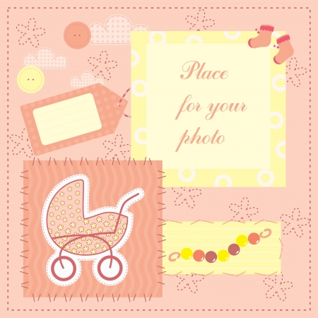 frame for baby s photo Vector