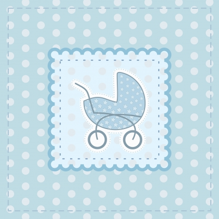 greeting card for baby boy Stock Vector - 14317917