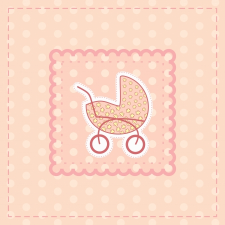 sonajero: tarjeta de felicitaci�n para tarjeta de beb� girlgreeting de ni�a