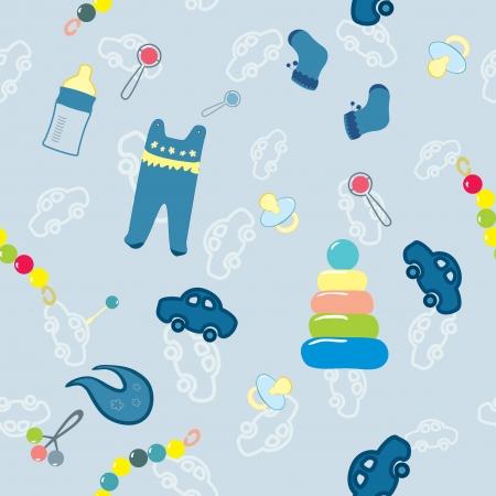 welkom nieuwe baby boy Vector Illustratie