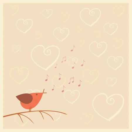 ruiseñor: pájaro está cantando sobre el amor
