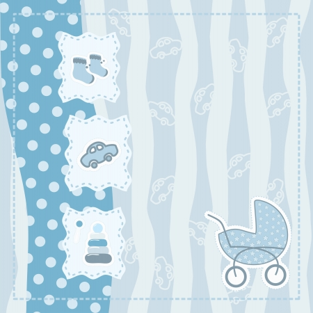 greeting card for baby boy Stock Vector - 14364659