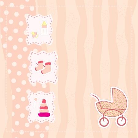 carte de voeux pour petite fille Vecteurs