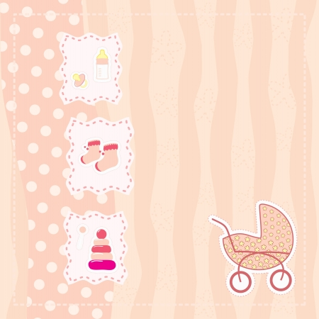 greeting card for baby girl Stock Vector - 14364660