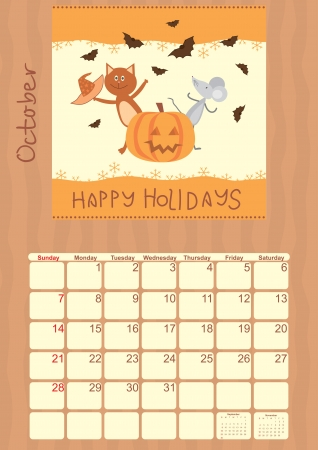 calendar for October 2012 Vector