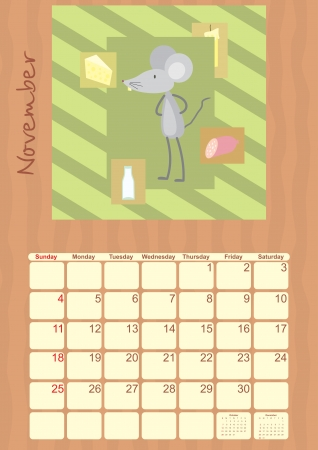 calendar for November 2012 Stock Vector - 14317895