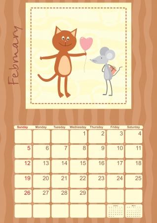 calendar month of February 2012