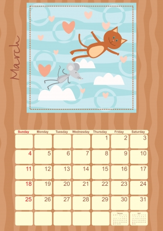 calendar for March 2012 Vector