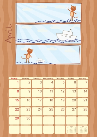 calendar for April 2012 Stock Vector - 14317911