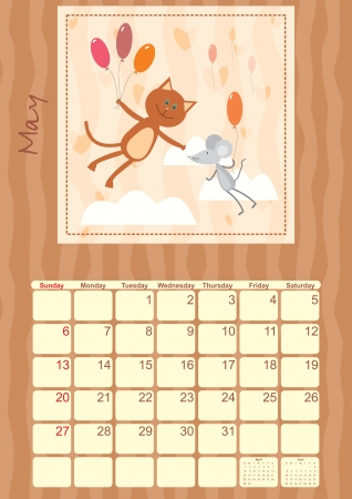 calendar for May 2012 Vector