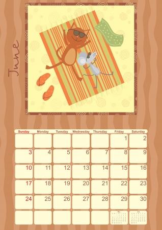 calendar for June 2012 Vector