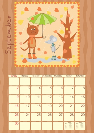 calendar for September 2012 Vector