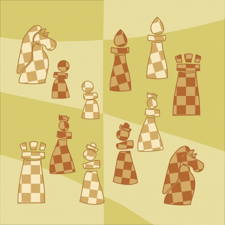 king master: background with stylized chess pieces
