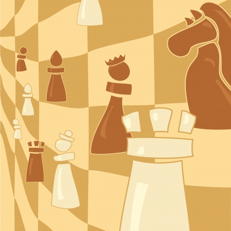 chess figure on abstract background Vector