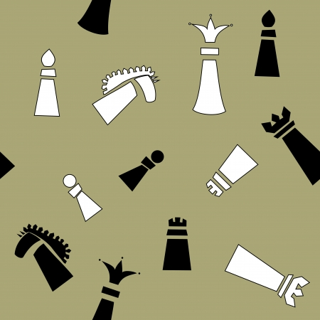 seamless pattern with chess pieces Vector