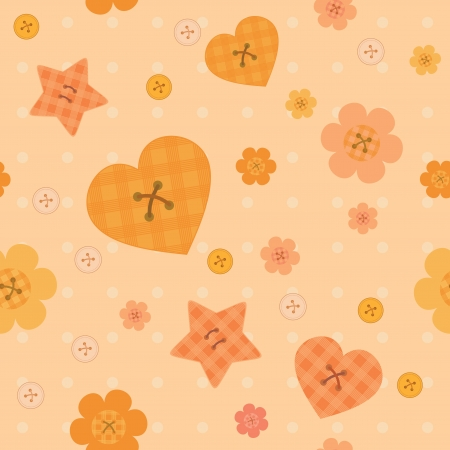 funny little buttons seamless pattern on dotted background Vector
