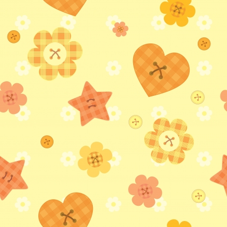 sunny funny little buttons seamless pattern Vector