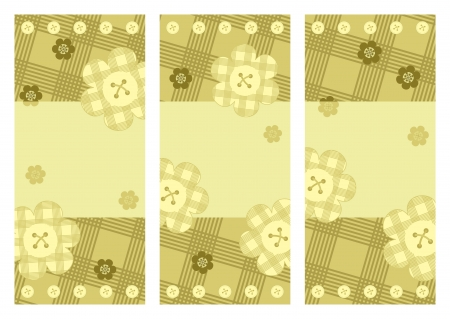 collection of vertical cards with flowers Vector