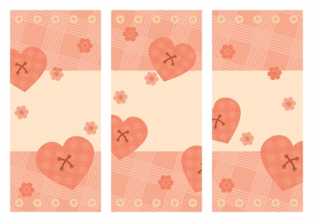 collection of vertical Valentine cards Vector