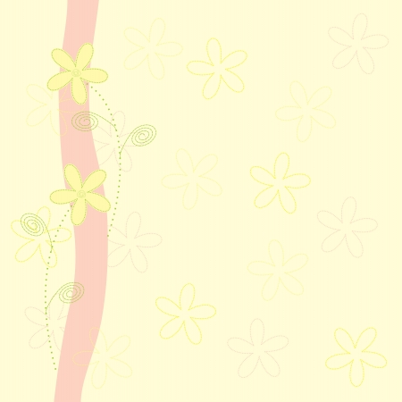 background with flowers Vector