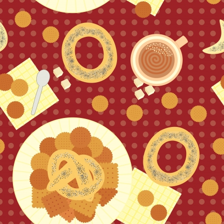 seamless pattern for lunch Vector