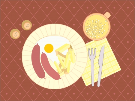 scrambled: illustration of a evening meal